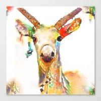 Deer (H)art Canvas Print
