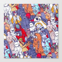 Space Toons In Color Canvas Print