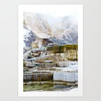 Yellowstone Hot Springs … Art Print