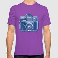 I Still Shoot Film Holga Logo - Blue Mens Fitted Tee Ultraviolet SMALL