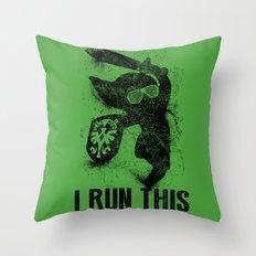 Link Boss Black Version Throw Pillow