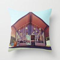 Mid-Century Americana Throw Pillow