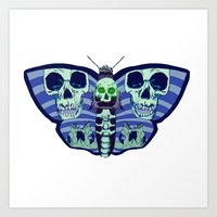 death moth Art Print