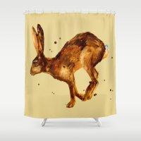 Hare, Hare Cushion, Rabb… Shower Curtain