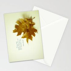 Every leaf speaks bliss Stationery Cards