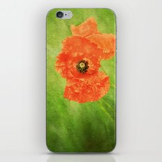 Poppy Paint iPhone & iPod Skin