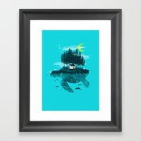 Moving Island Framed Art Print
