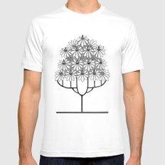 Tree Collection -1 SMALL White Mens Fitted Tee