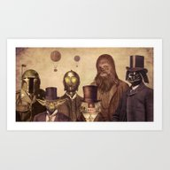 Art Print featuring Victorian Wars  by Terry Fan