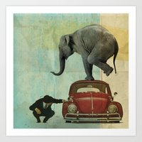 Looking For Tiny _ Eleph… Art Print