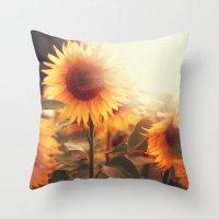 Sunflower. Throw Pillow