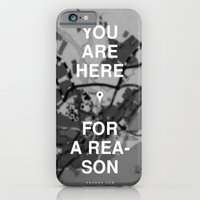 iPhone & iPod Case featuring You Are Here by WRDBNR