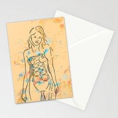 grenade girl Stationery Cards
