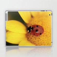 Ladybug on yellow flower - macro still life - fine art photo for interior decor Laptop & iPad Skin