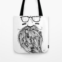 Beard Me Some Music (Black & White) Tote Bag