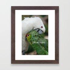 In Love - I'm All Yours Framed Art Print