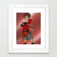 Street Samurai Series - Mad Man Framed Art Print