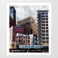 Rooftop #7 Art Print