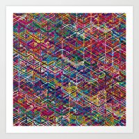 Cuben Network 2 Art Print