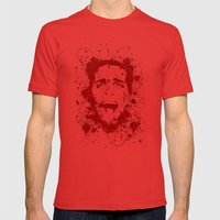 American Psycho Mens Fitted Tee Red SMALL