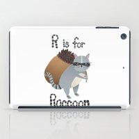 R is for Raccoon iPad Case