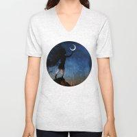 Give The Moon A Little K… Unisex V-Neck