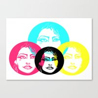 CMYK Punk Canvas Print