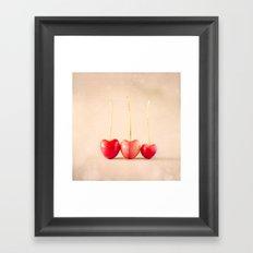Cherry Heart Goodness Framed Art Print