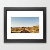 Golden Rolling Hills Roa… Framed Art Print