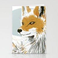 Winter Fox Stationery Cards