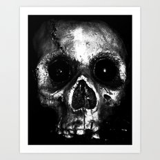 Halloween Skull Art Print