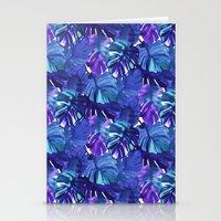 Palm Leaf Blue Stationery Cards