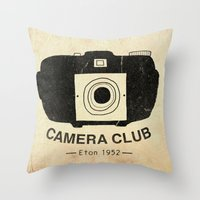 Eton Camera Club Throw Pillow