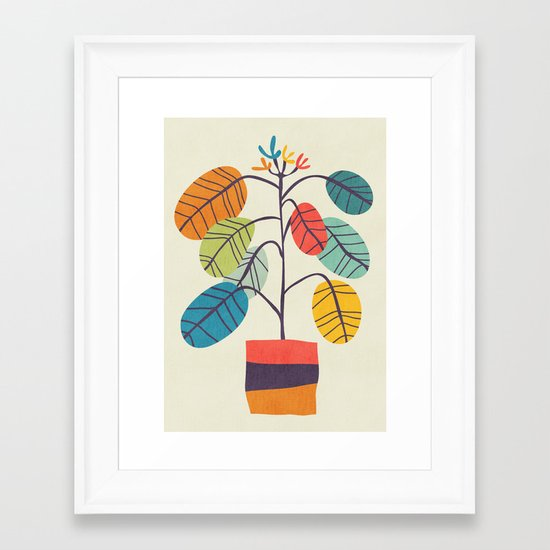 Potted plant 2 Framed Art Print