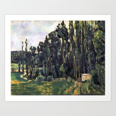 1880 - Paul Cezanne - Poplars Art Print