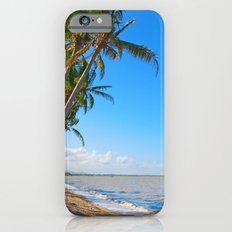 Coconut palms on beach iPhone 6s Slim Case