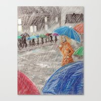 Rainy Days in Normandy Canvas Print