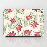 Dragon Flower Watercolor iPad Case