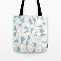 Ab Nude Lines With Blue … Tote Bag