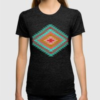 FIESTA (teal) Womens Fitted Tee Tri-Black SMALL