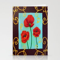 Poppies-4 Stationery Cards