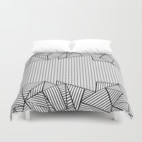 Grids And Stripes   Duvet Cover