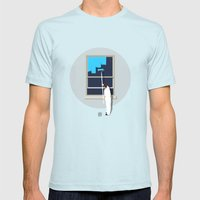 Happiness Mens Fitted Tee Light Blue SMALL