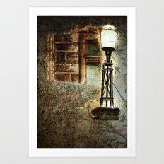 Victorian Pillar Lantern & Window Surround Art Print