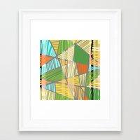 Jungle Stripes Framed Art Print