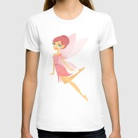 Pink Fairy Womens Fitted Tee White SMALL