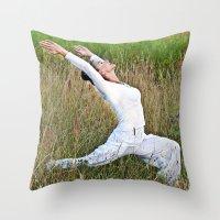 Meditative Summer Dance Throw Pillow
