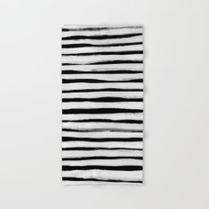 Black and White Stripes II Hand & Bath Towel