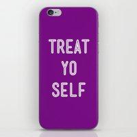 Treat Yo Self Purple - P… iPhone & iPod Skin