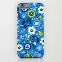 Folk Flowers (Blue) iPhone 6 Slim Case